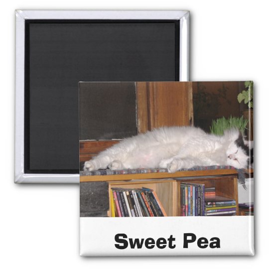 Sweet Pea Square Magnet