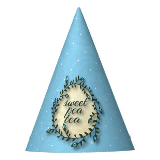 Sweet Pea Tea Birthday –Blue Polka-Dot Party Hat