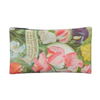 Sweet Peas: 1906 seed catalogue illustration Cosmetic Bag