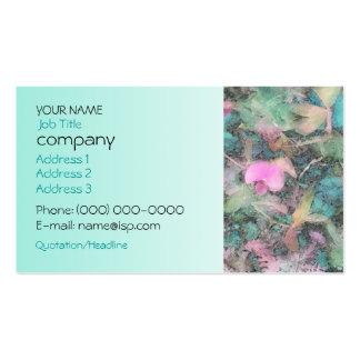 Sweet Peas Aqua Profile Card Business Cards