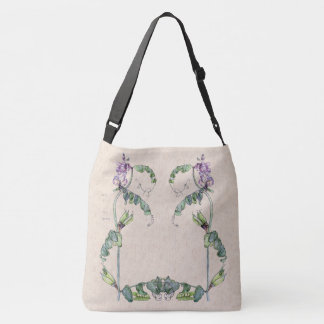 Sweet Peas Butterfly Narcissus Flowers Tote Bag