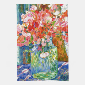 Sweet Peas by Theo van Rysselberghe Tea Towel