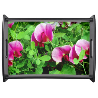 Sweet peas design serving tray