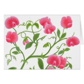 Sweet Peas Happy Birthday Card