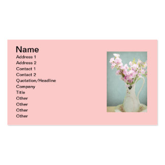Sweet Peas in Antique Vase Business Card Template