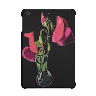 Sweet Peas in Vase (Black) iPad Mini Retina Case