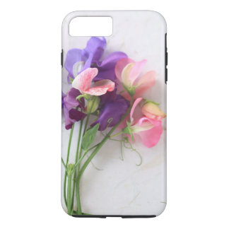 Sweet peas on textured paper iPhone 7 plus case