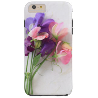 Sweet peas on textured paper tough iPhone 6 plus case