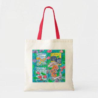 Sweet Peas Watercolor Flowers Tote Bag