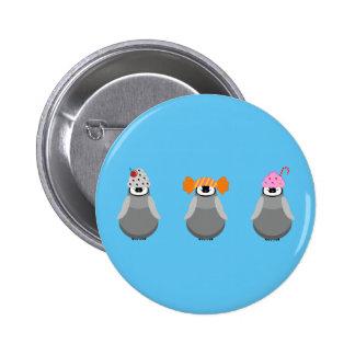 Sweet Penguins 6 Cm Round Badge