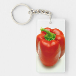 Sweet pepper Double-Sided rectangular acrylic key ring
