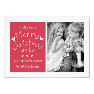 SWEET PHOTO HOLIDAY GREETING CARD | RED