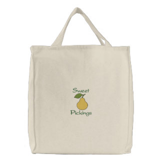 Sweet Pickings Yellow Pear Fruit Grocery Bags