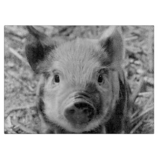 sweet piglet, black white cutting board