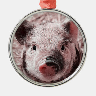 sweet piglet pink christmas ornament