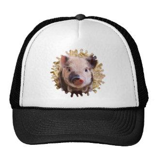 sweet piglet white mask mesh hats