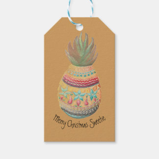 Sweet Pineapple Gift Tag Mustard
