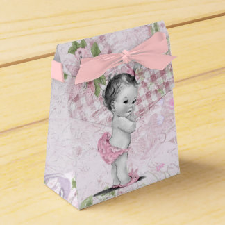 Sweet Pink and Green Baby Shower Favor Boxes