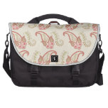 Sweet pink and grey paisley pattern design bag for laptop