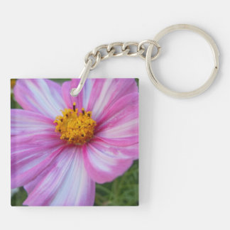 Sweet Pink and White Cosmo Acrylic Keychain