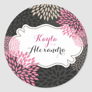 Sweet Pink Blooms - Circle Sticker
