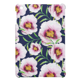 Sweet pink blue poppy vintage floral pattern case for the iPad mini