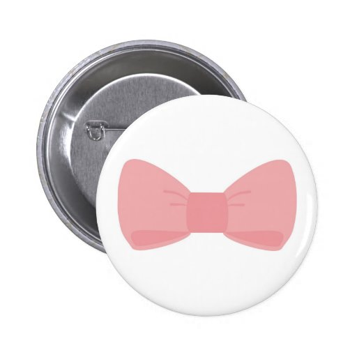 Sweet pink bow button