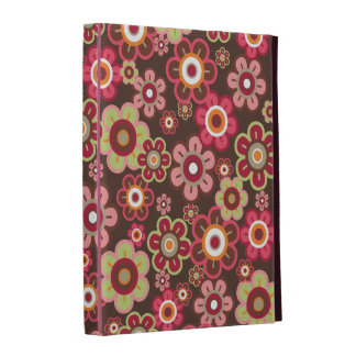 Sweet Pink Candy Daisies Flowers Girly Pattern Fun iPad Folio Case