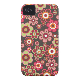 Sweet Pink Candy Daisies Flowers Girly Pattern Fun iPhone 4 Case-Mate Cases