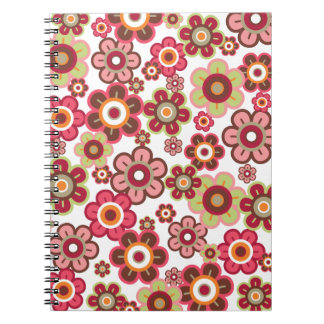 Sweet Pink Candy Daisies Flowers Girly Pattern Fun Notebook