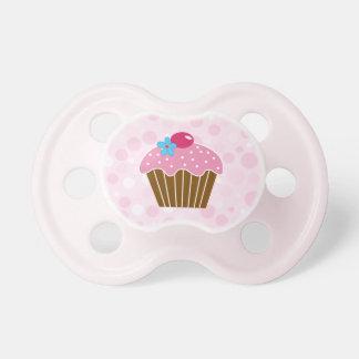 Sweet Pink Cupcake Baby Pacifier