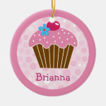 Sweet Pink Cupcake Ornament