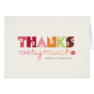 Sweet Pink Daisy Blooms Baby Shower Thank You Card