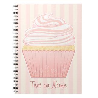 Sweet Pink Elegant Cupcake Notebook