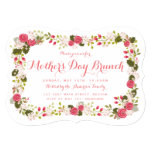 Sweet Pink Floral Mother's Day Brunch Invitation 13 Cm X 18 Cm Invitation Card