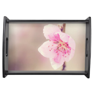 Sweet pink flower serving tray