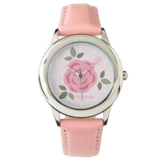 Sweet Pink Flowers Wrist Watch