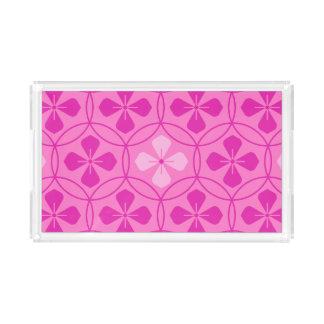 Sweet pink glam diamond geometric floral pattern