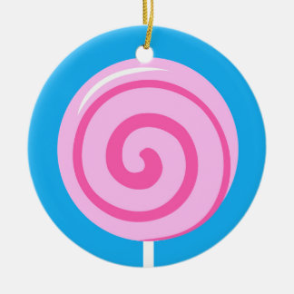 Sweet Pink Lollipop Ornament
