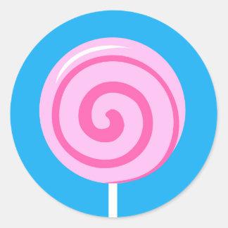 Sweet Pink Lollipop Sticker