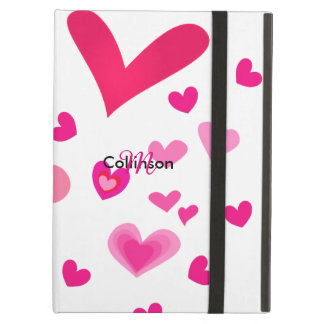 Sweet Pink Love Hearts Pretty Girly Design iPad Air Cover