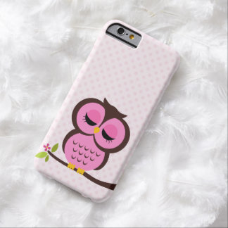 Sweet Pink Owl Barely There iPhone 6 Case