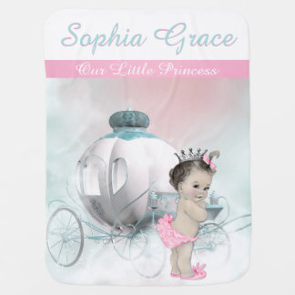 Sweet Pink Princess Baby Swaddle Blankets