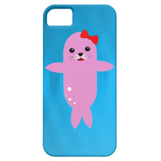 Sweet pink seal iPhone 5 cases
