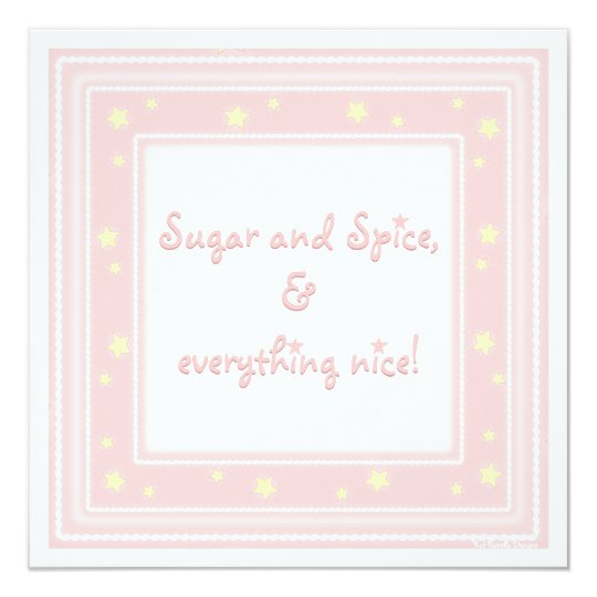 Sweet Pink Sugar & Spice Baby Shower Invitation
