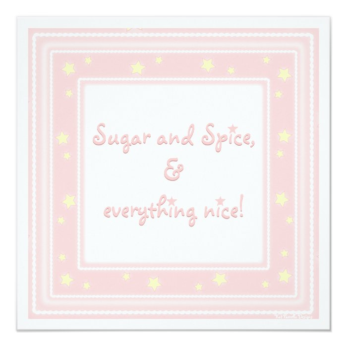Sweet Pink Sugar & Spice Baby Shower Invitation