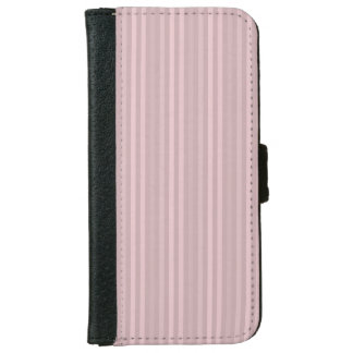Sweet Pink Vertical Stripes Pattern iPhone 6 Wallet Case