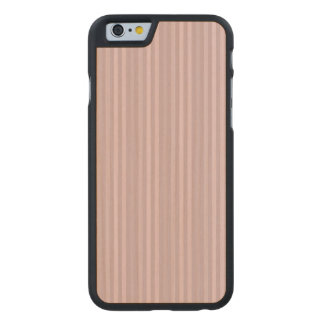 Sweet Pink Vertical Stripes Pattern Carved® Maple iPhone 6 Slim Case