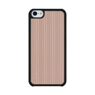 Sweet Pink Vertical Stripes Pattern Carved® Maple iPhone 5C Case