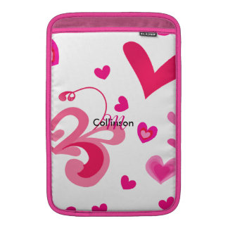 Sweet Pinky Love Hearts Pretty Girly Design Sleeve For MacBook Air